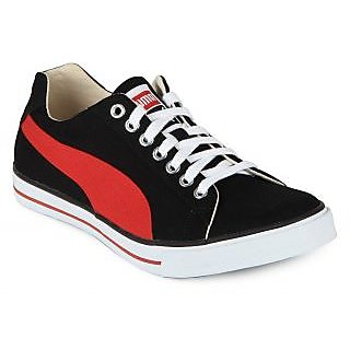 Men's Faux Leather Casual Shoes Red And White