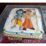 Chota Bheem And Krishna Photo Cake-Delhi NCR