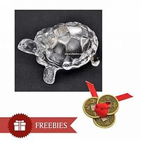 Lucky Crystal Tortoise with Free Lucky Coins