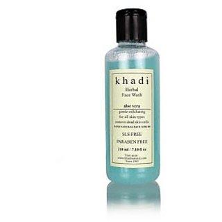 Khadi Aloevera Face Wash with Scrub (SLS PARABEN FREE)
