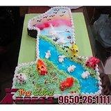 First Birthday Number Cake-Delhi NCR