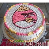 Angry Birds Cartoon Cake-Delhi NCR