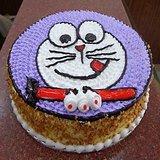 Butter Scotch Doraemon Cartoon Cake-Delhi NCR