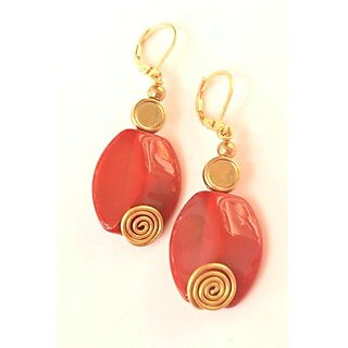 Semi - Precious Fancy Party Wear Earrings Sme028