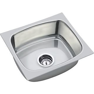 SINK 18*16*8 WITH SINGLE BOWL AND SINKL WASTE COUPLING