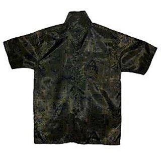 Men's Short Sleeve Silk Shirt