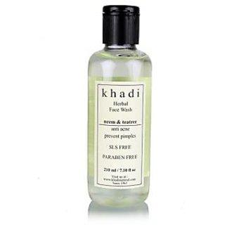 Khadi Herbal Neem & Teatree Face Wash- SLS & Paraben Free