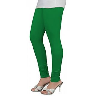 Exclusive Green Cotton Fabric V-cut Leggings