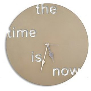 The Time is Now Round Shaped Conceptual Wall Clock in Steel