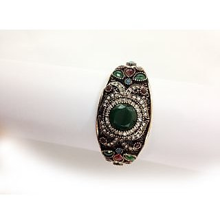 Traditional Party Wear  Emerald with CZ Designs Bracelets Free Size