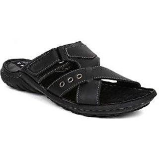 Kosher Leather Black Casual Shoe