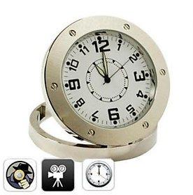 Spy Metal Clock Audio Video HD Rec Camera