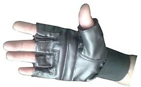 BEST QUALITY LEATHER GYM GLOVES ALONG WITH WRIST SUPPORT