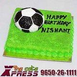Championship Soccer Ball Cake-Delhi NCR