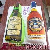 Chivas Regal And The-Glenlivet Bottle Shape Cake-Delhi NCR