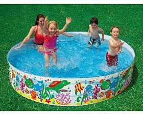 Intex 8 Feet Swimming Pool for Kids and Adults for Home Garden and Farmhouse