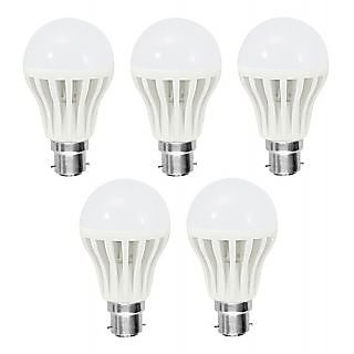 LED Bulb Bright White Light Combo of 5w (1 Set of 5 Pieces)