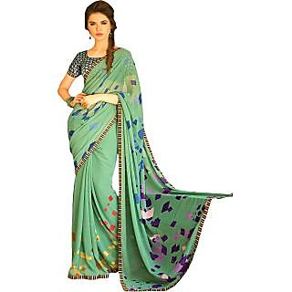 Anushree Brown Brocade Self Design Saree With Blouse