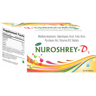 Shreys Nuroshrey-D3 For Neurological Health (Methylcobalamin  Vitamin D3)