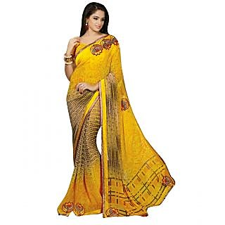 Women's Amazing Faux Geogette Printed Saree