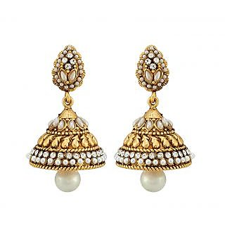 Asmara Incredible Pearl Embellished Jhumkas
