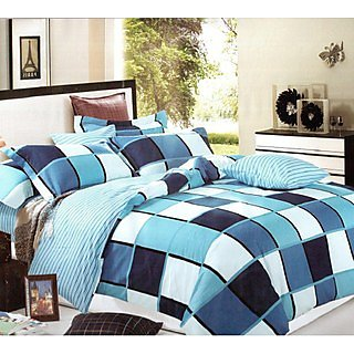 Blackivy-BLA09-MULTY: Double Bed Cover with 2 Pillow Cases