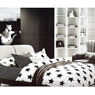 Blackivy-BLA11-WB: Double Bed Cover with 2 Pillow Cases