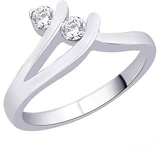 Peora Cz Sterling Silver Ring PR2076