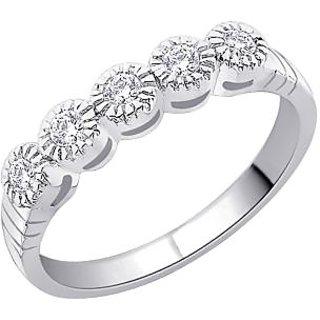 Peora Cz Sterling Silver Ring (Design 12)