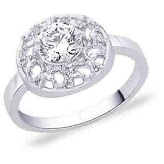 Peora 92.5 Cz Sterling Silver Ring PR2