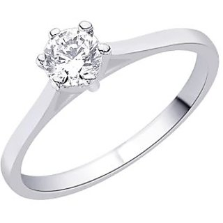 Peora 92.5 Cz Sterling Silver Ring With Rhodium-Plating (PR3008)