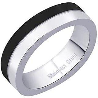 Peora 316L Stainless Steel Curved Men'S Ring (Design 2)