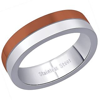 Peora 316L Stainless Steel Curved Men'S Ring PSR176
