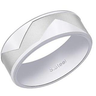 Peora Satin-Finish 316L Stainless Steel Men'S Ring PSR188