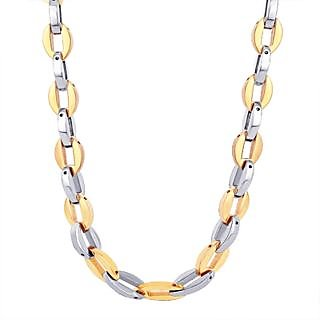 Titanium Necklace Solid Link With 316L Stainless Steel