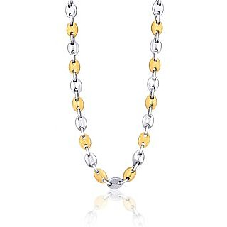Peora Solid Link With 316L Stainless Steel Chain