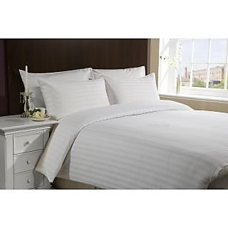 Valtellina  200 TC   Cotton  white  Double  Bed sheet (HTL-001_1)