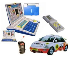 Combo - English Learning Laptop + Radio Control Wireless Remote Car