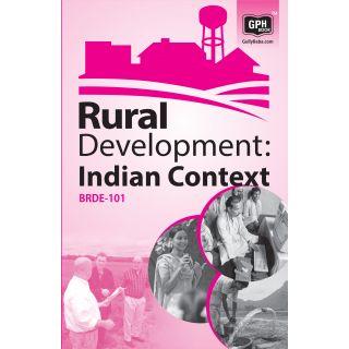 BRDE101 Rural Development  India(IGNOU Help book for BRDE101 in English Medium)
