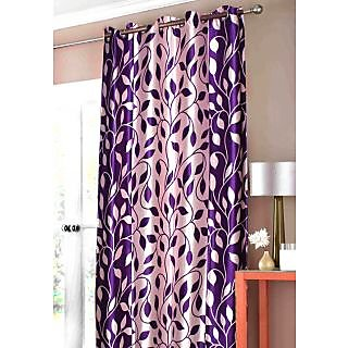 Home passion New Purple Leaf door Curtain (HPC048)