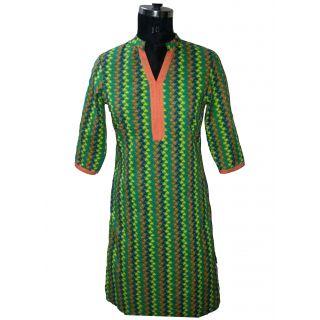 Ladies Designer 100% Cotton Kurta