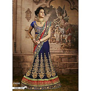 New Embroidery Designer Lehenga Saree