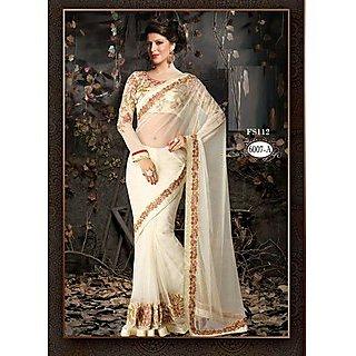 New Latest Heavy Latest White Designer Saree