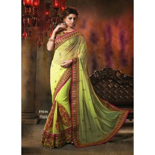 New Exclusive Parrot Designer Georgette Saree