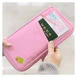 Credit Card ID Holder Zipper Wallet-Multi Purpose Travel Wallet - Pink [CLONE]