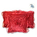 Floral Cushion Cover Red 30/30 Cm(set Of 5 Pcs) [CLONE]