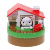 Funny Novelty Cat Catch Mouse Plastic Rotate Coin Bank For Gift