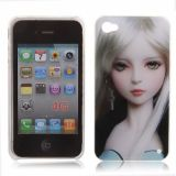 Fashion Japanese Sexy Tattoo Girl Series With Earrings Hard Case Shell With Transparent Frame For Iphone 4 4s
