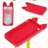 Koko Outer Style Soft Silicone Protective Case For Iphone 4 & 4s (red)