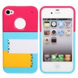 Colorful Mondrian Shutters Hard Case With Adjustable Stand For Iphone 4/4s